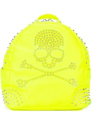 Philipp Plein 'Pirate' Backpack Yellow And Orange