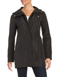 Ellen Tracy Petite Packable Rain Coat Black