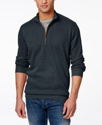Weatherproof Quarter Zip Pullover Sweater Navy