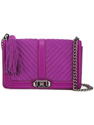 Rebecca Minkoff Quilted Crossbody Bag Pink Purple