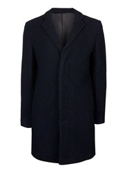 Topman Selected Homme Blue Overcoat