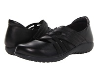 Naot Footwear Kawaka Black Raven Leather Black Patent Leather Women's Flat Shoes