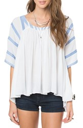 O'neill Women's 'Emerson' Short Sleeve Peasant Top