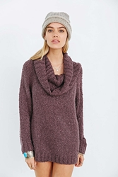 Ecote Slouchy Cowl Neck Sweater Purple