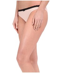 Betsey Johnson Bridal Lace Up Sheer Marquisette Bikini J0027 Tea Rose Women's Underwear Red