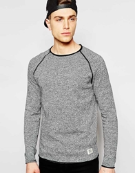 Jack And Jones Jack And Jones Lightweight Twisted Yarn Knitted Jumper Black