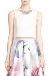 Ted Baker Women's London 'Jaby' Embellished Sleeveless Crop Top