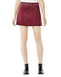 Bcbgmaxazria Dorthy Faux Suede Mini Skirt Bordeaux