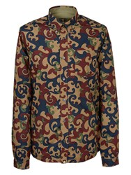 Pretty Green Riley Long Sleeve Shirt Red