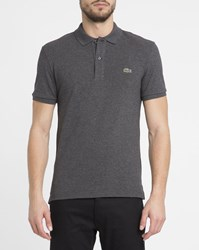 Lacoste Charcoal Logo Slim Fit Polo Shirt Grey