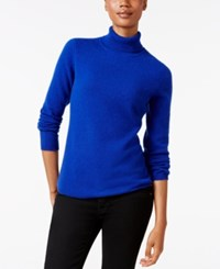 Charter Club Cashmere Turtleneck Sweater Only At Macy's 16 Colors Available Bright Blue