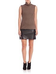 Bailey 44 American In Paris Sleeveless Combo Dress Taupe Black