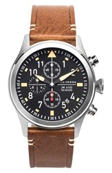 Men's Jack Mason Brand Chronograph Leather Strap Watch 42Mm