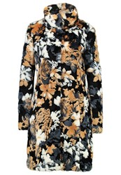 Patrizia Pepe Classic Coat Black Flowers