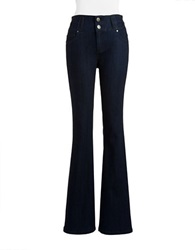 Design Lab Lord And Taylor High Waisted Flared Jeans Samba Rinse