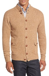 Peter Millar Button Front Camel Hair Cardigan