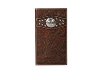 Ariat Tooled Cross Concho Rodeo Wallet Brown Wallet Handbags