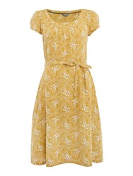 Lily And Me Linen A Line Dress Yellow
