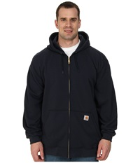 Carhartt Big Tall Midweight Hooded Zip Front Sweatshirt New Navy Men's Sweatshirt