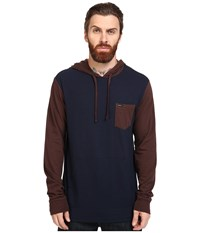 Rvca Set Up Hoodie Mid Brown Men's Sweatshirt