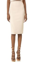 Narciso Rodriguez Knit Pencil Skirt Cream
