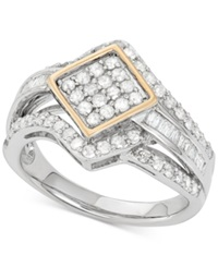 Wrapped In Love Diamond Ring 1 Ct. T.W. In 14K Gold And Sterling Silver No Color