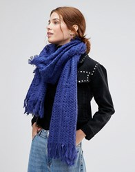 Lavand Knitted Scarf Blue