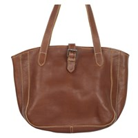 Fat Face Small Shaped Buckle Tote Bag Tan