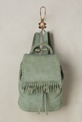 Anthropologie Caminha Suede Backpack Mint