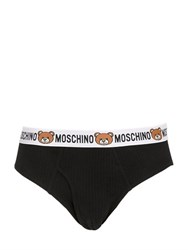 Moschino Underwear Underbear Ribbed Cotton Jersey Briefs