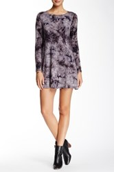Hourglass Lilly Long Sleeve Tie Dye Dress Gray