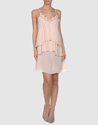 H. Eich Short Dresses Light Pink