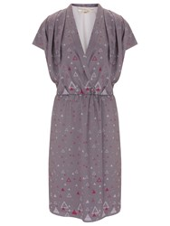 Nougat London Hampstead Wrap Front Dress Charcoal