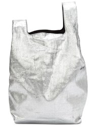 Maison Martin Margiela Maison Margiela Distressed Shopper Tote Metallic
