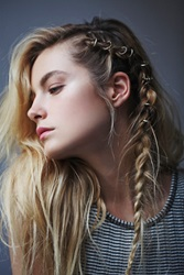 Free People Etched Hair Ring Set