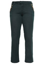 Zizzi Straight Leg Jeans Green Gables Dark Green