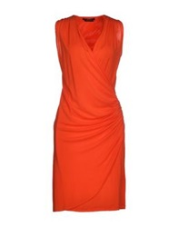 Guess By Marciano Knee Length Dresses Orange