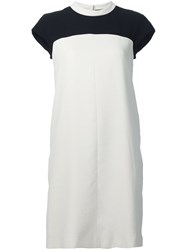 Paule Ka Colour Block Dress White