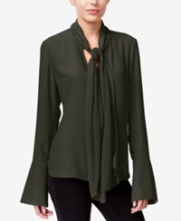 Rachel Roy Tie Neck Bell Sleeve Blouse Only At Macy's Spruce