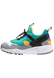 Nike Sportswear Air Huarache Utility Premium Trainers White Black Emerald Green