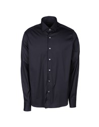 Lorenzini Shirts Long Sleeve Shirts Men Dark Blue