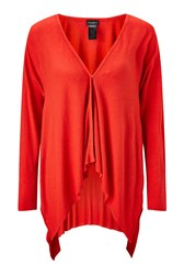 James Lakeland Side Drape Cardigan Red