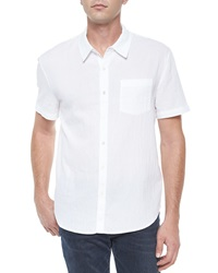 James Perse Short Sleeve Button Down Shirt White