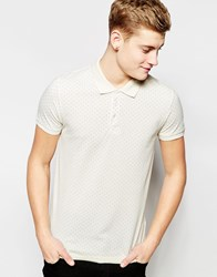 Jack And Jones Jack And Jones Premium Polka Dot Pique Polo Shirt White