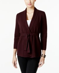 Alfani Belted Cardigan Only At Macy's New Wine