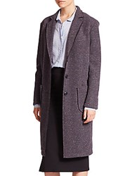 Atm Anthony Thomas Melillo Bonded Long Coat Purple
