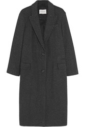 Etoile Isabel Marant Garth Oversized Tweed Coat Dark Gray