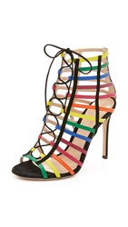 Mary Katrantzou Canel Sandals Rainbow