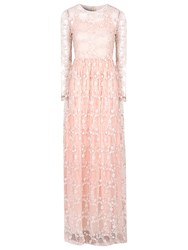True Decadence Floral Lace Maxi Dress Light Pink
