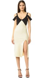 Self Portrait Double Strap Dress Cream Black